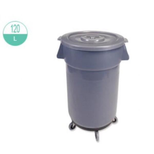 120升 灰色萬用桶連蓋及腳轆 (2232/2232-1/R)