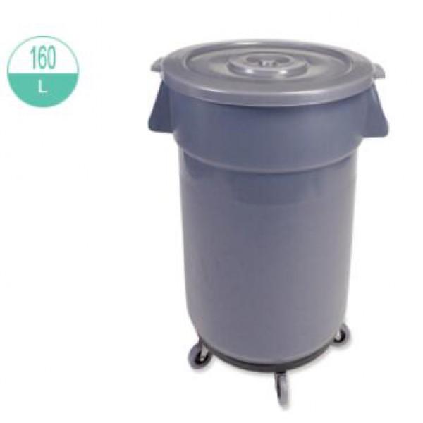 160升 灰色萬用桶連蓋及腳轆 (2242/2242-1/R)