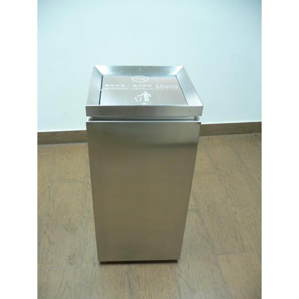 不鏽鋼搖蓋垃圾桶(LB-113)