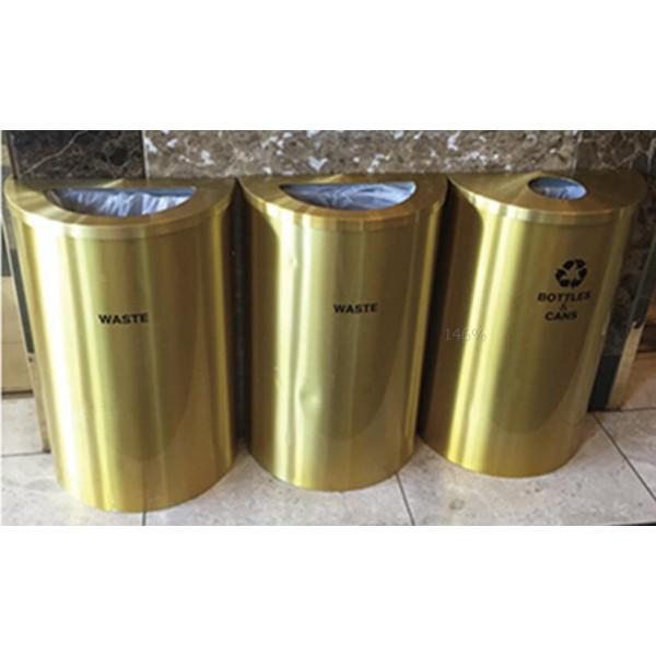 不鏽鋼半圓形環保回收箱(NC139)