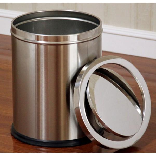 砂鋼翻蓋垃圾桶(JD-2121A)