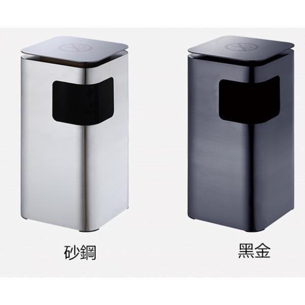 平面圓角座地垃圾桶(JD-2314)