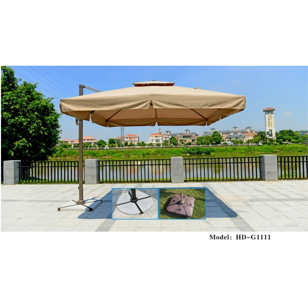 雙頂360度轉向方形羅馬傘(HD-G1111)