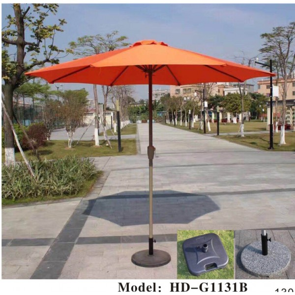 手搖單頂中柱太陽傘(HD-G1131B)