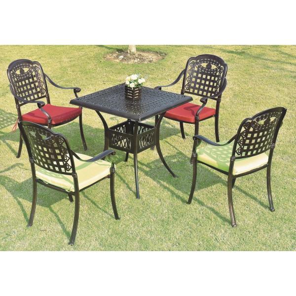 戶外鑄鋁桌椅套裝(HD-K1616B)