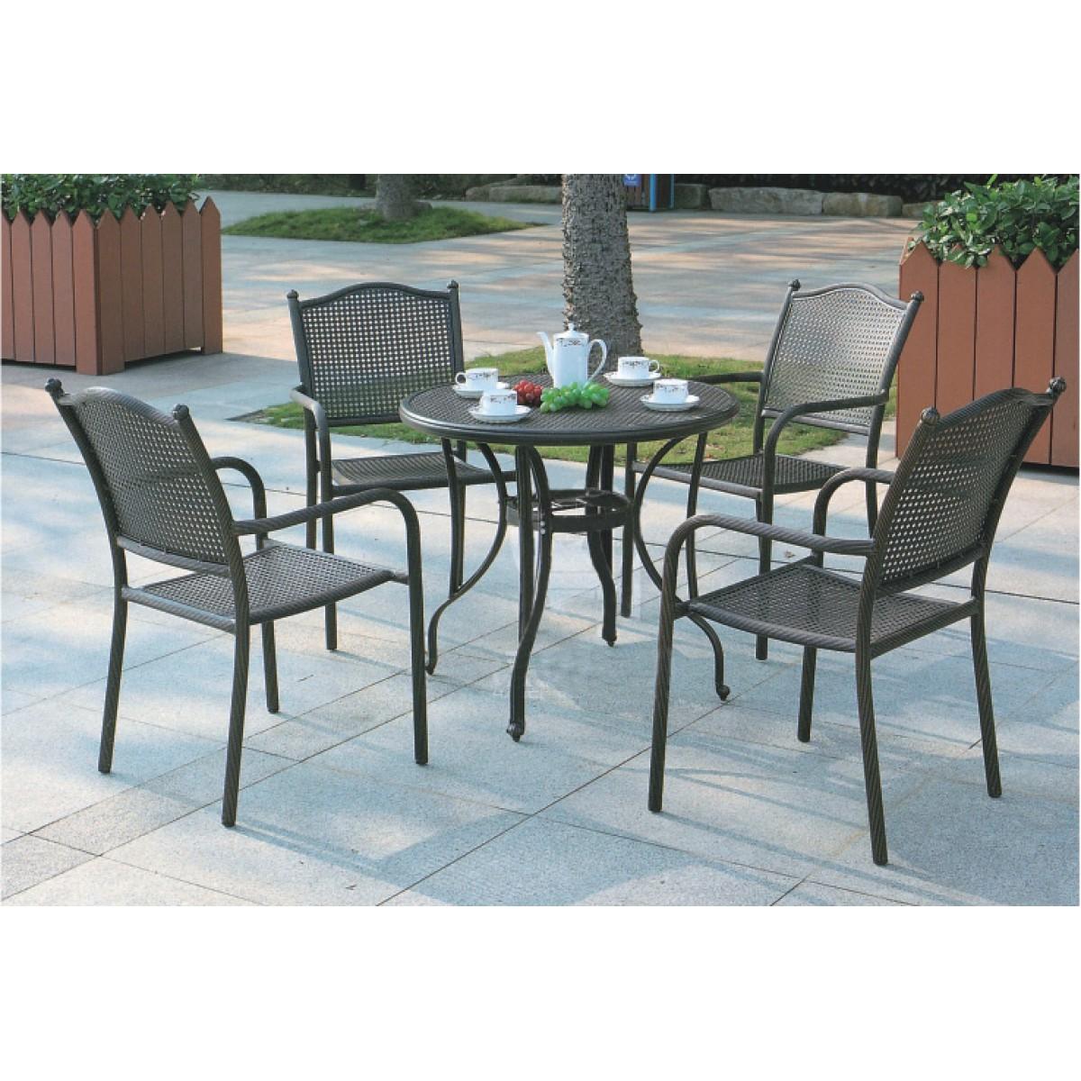 戶外鑄鋁桌椅套裝(HD-K1631B)